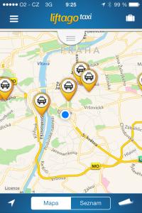 Liftago - mapa