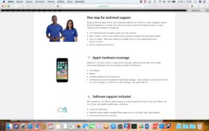 Apple care+ hlavní stránka 2