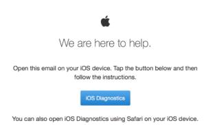 Vzdálená diagnostika Apple zařízení