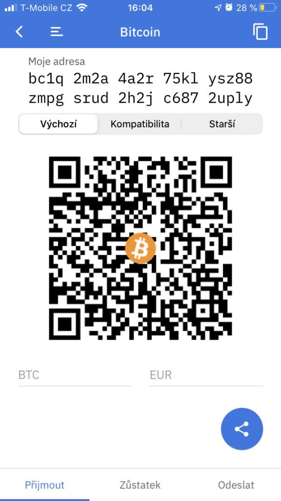 Bitcoinová peněženka adresa a qr kód